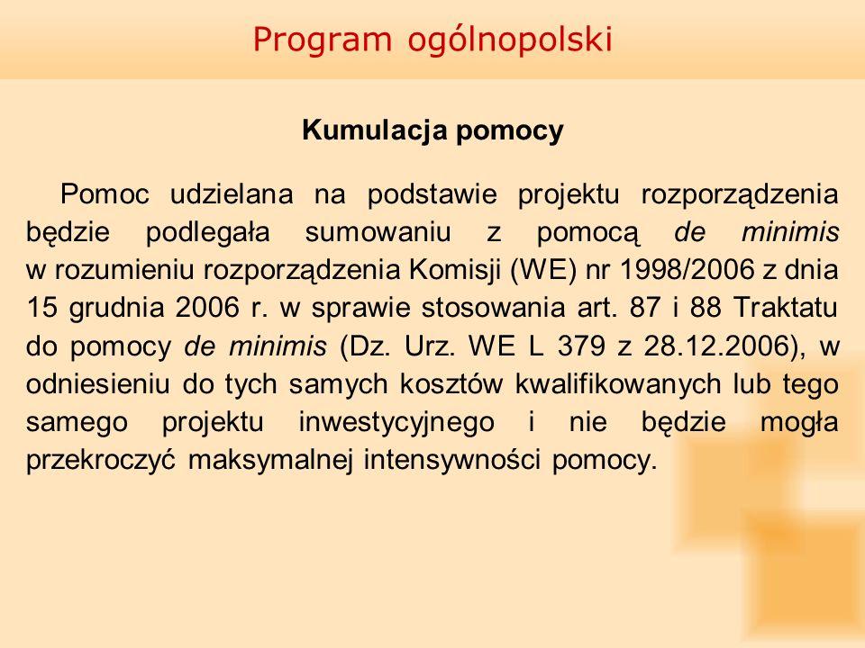 Program ogólnopolski Kumulacja pomocy