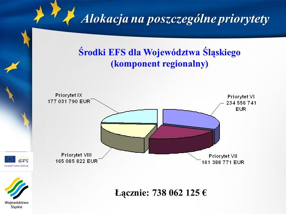 Środki EFS dla Województwa Śląskiego (komponent regionalny)