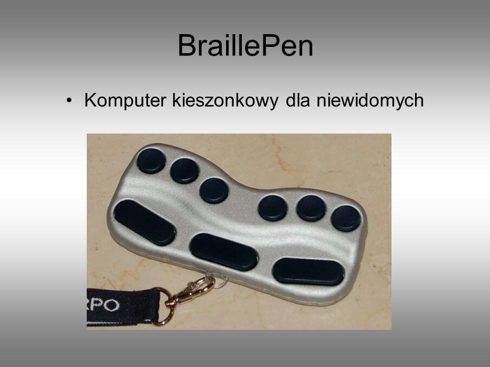 Komputer kieszonkowy dla niewidomych