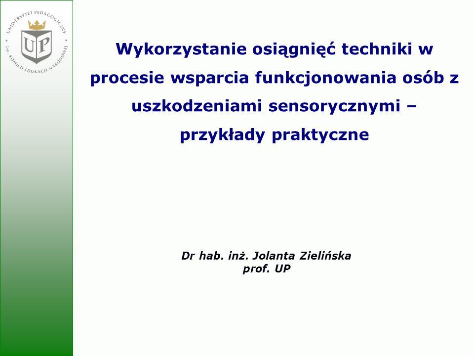 Dr hab. inż. Jolanta Zielińska