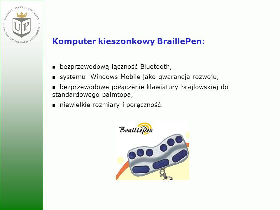 Komputer kieszonkowy BraillePen: