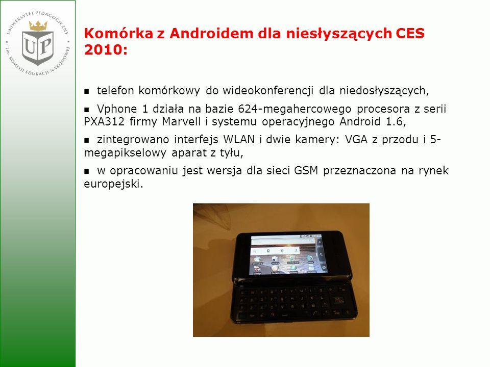 Komórka z Androidem dla niesłyszących CES 2010: