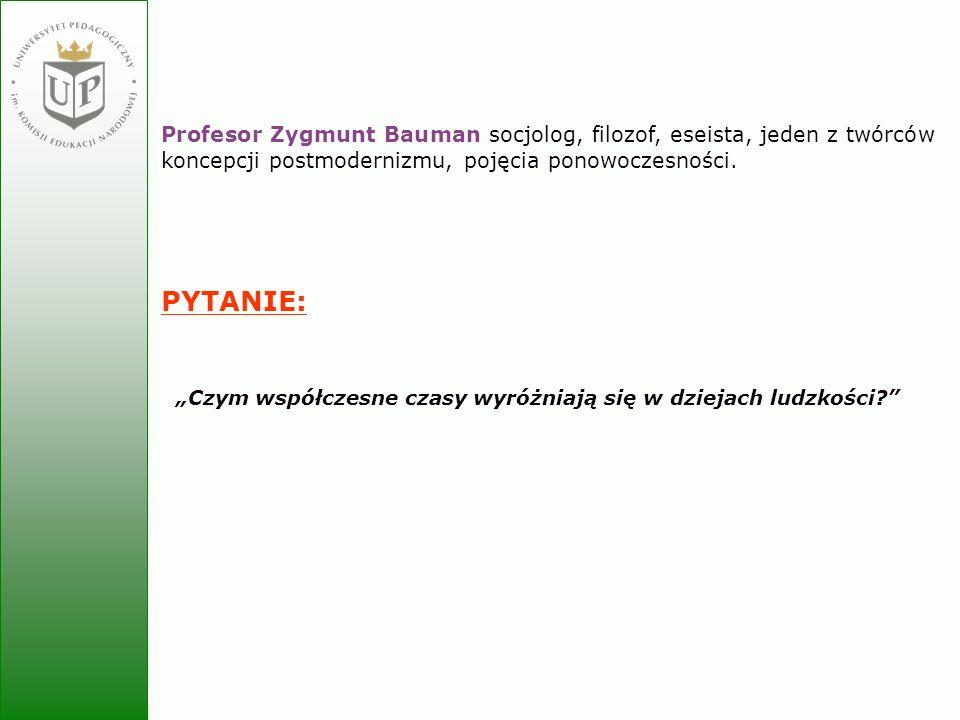 Profesor Zygmunt Bauman socjolog, filozof, eseista, jeden z twórców koncepcji postmodernizmu, pojęcia ponowoczesności.