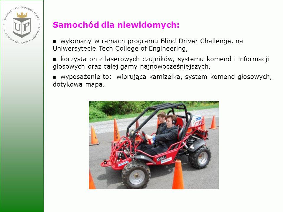 Samochód dla niewidomych: