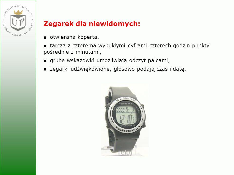 Zegarek dla niewidomych: