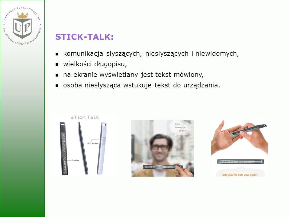 STICK-TALK: komunikacja słyszących, niesłyszących i niewidomych,