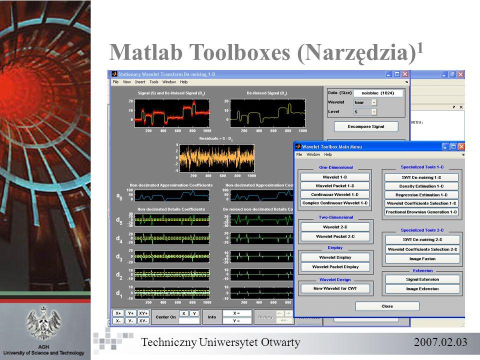 Matlab Toolboxes (Narzędzia)1
