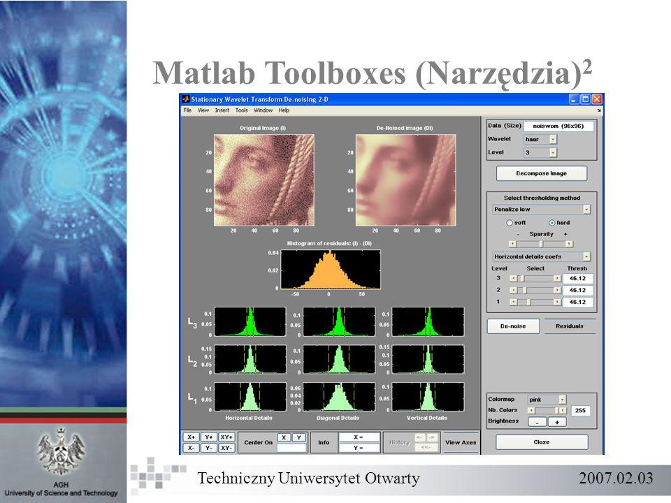 Matlab Toolboxes (Narzędzia)2