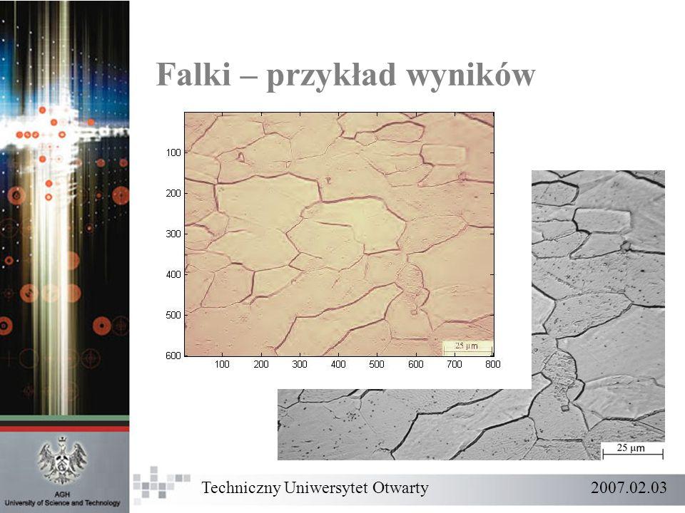 Falki – przykład wyników