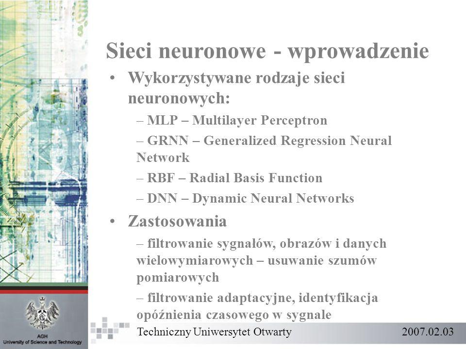 Sieci neuronowe - wprowadzenie