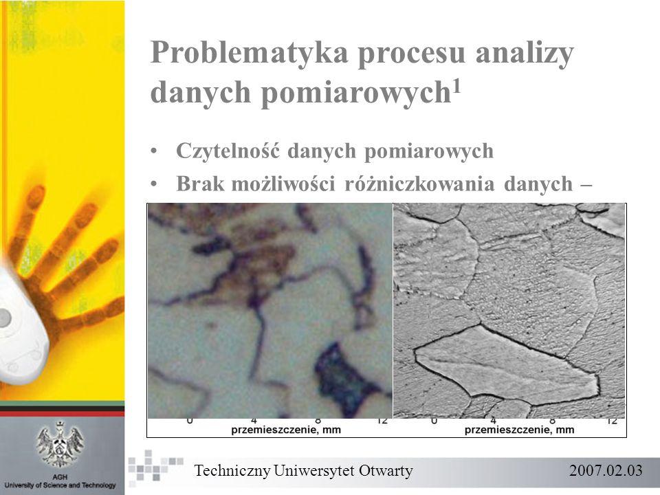Problematyka procesu analizy danych pomiarowych1