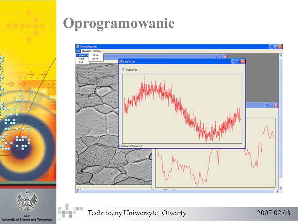 Oprogramowanie Techniczny Uniwersytet Otwarty 2007.02.03