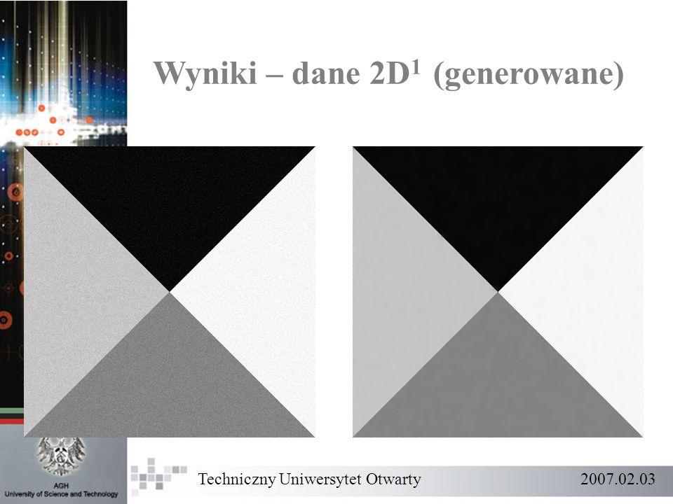 Wyniki – dane 2D1 (generowane)