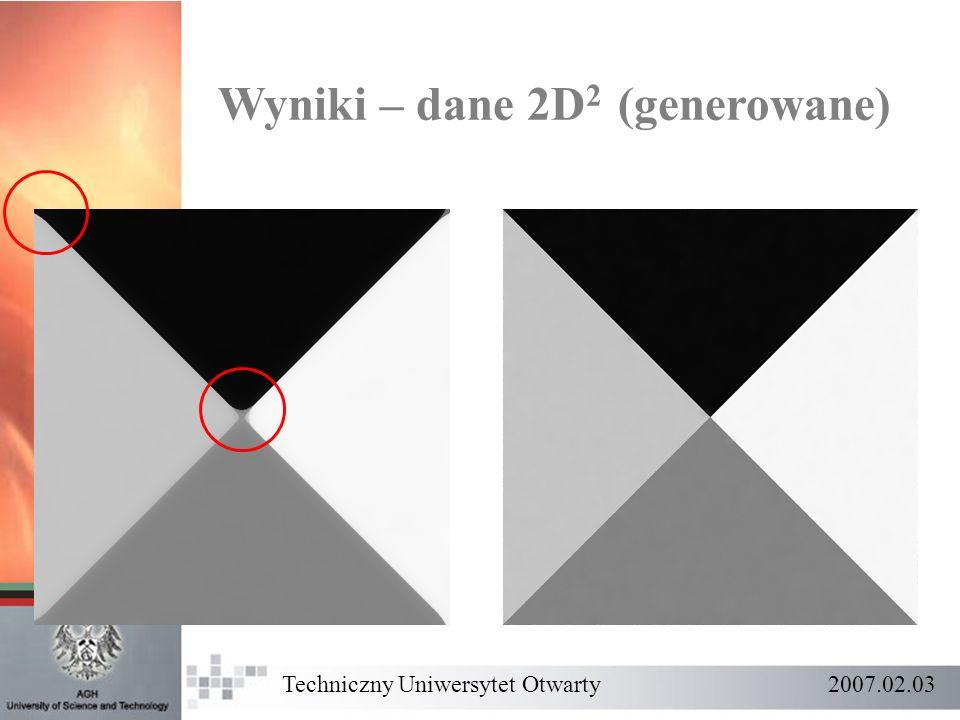 Wyniki – dane 2D2 (generowane)