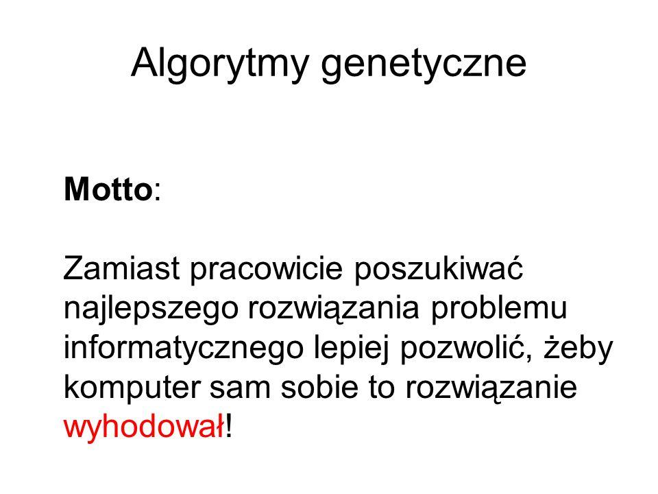 Algorytmy genetyczne Motto: