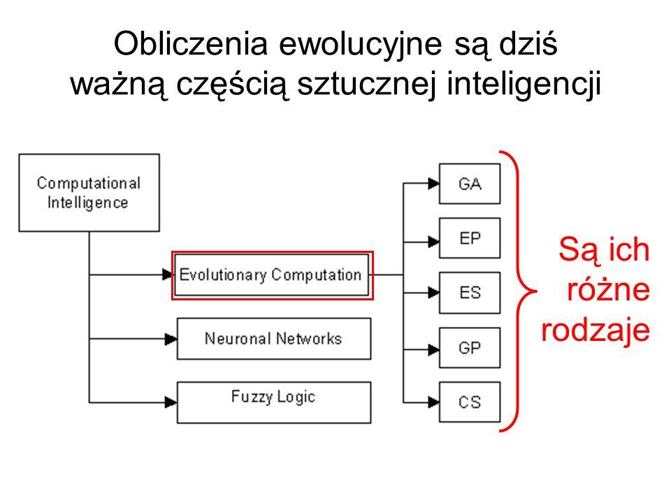 Obliczenia ewolucyjne są dziś ważną częścią sztucznej inteligencji