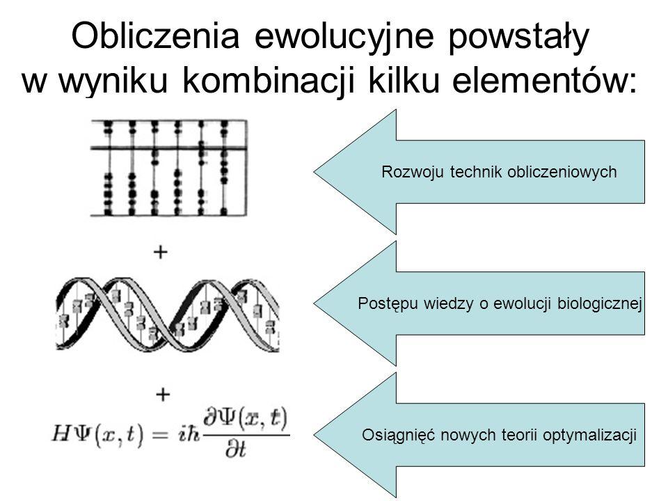 Obliczenia ewolucyjne powstały w wyniku kombinacji kilku elementów: