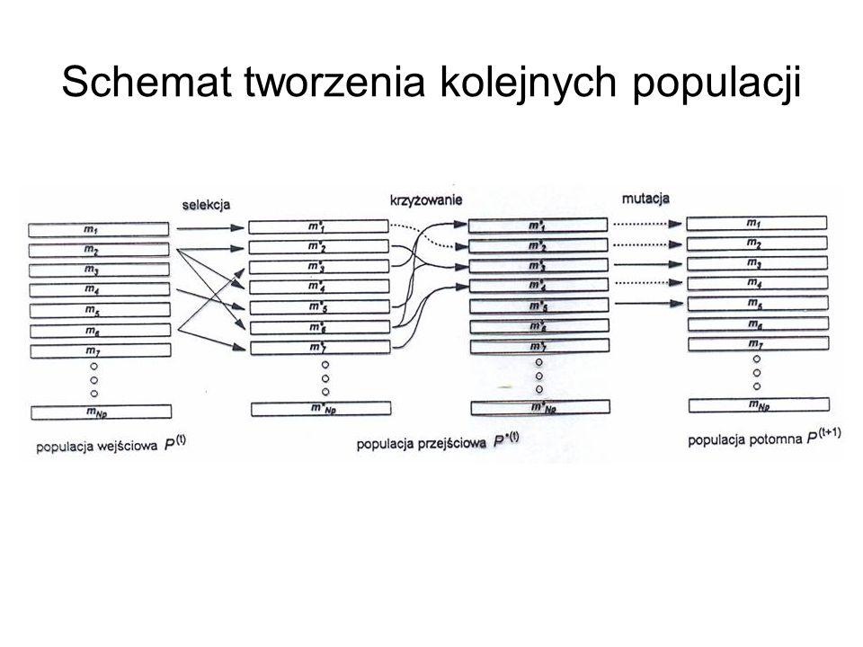 Schemat tworzenia kolejnych populacji