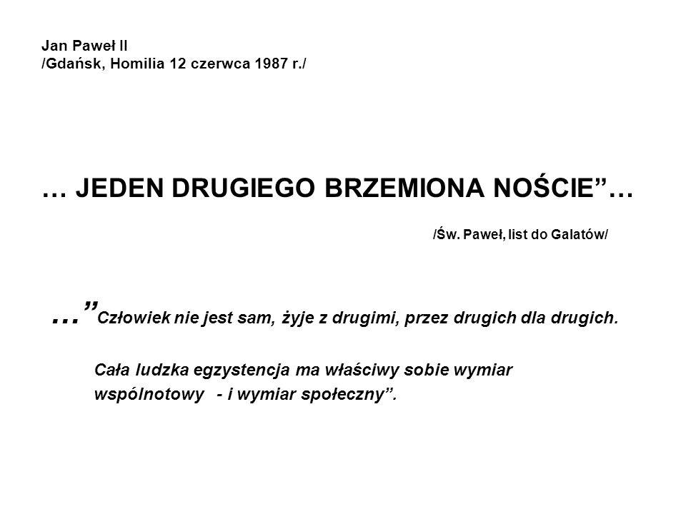 Jan Paweł II /Gdańsk, Homilia 12 czerwca 1987 r./