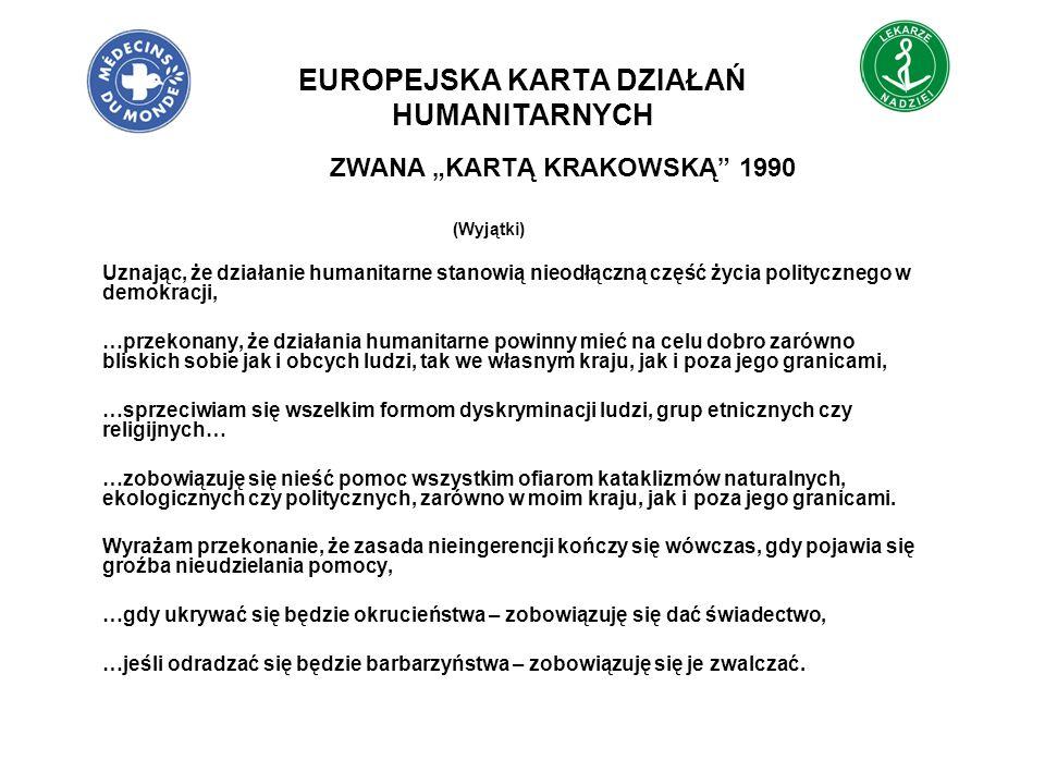 EUROPEJSKA KARTA DZIAŁAŃ HUMANITARNYCH