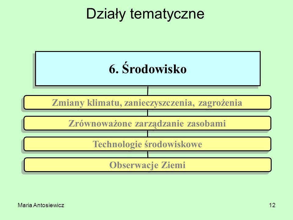Działy tematyczne 6. Środowisko