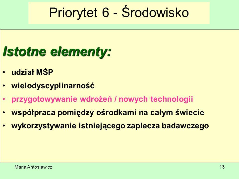 Priorytet 6 - Środowisko
