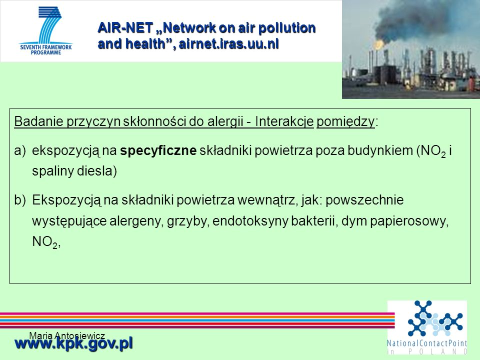 "AIR-NET ""Network on air pollution and health , airnet.iras.uu.nl"