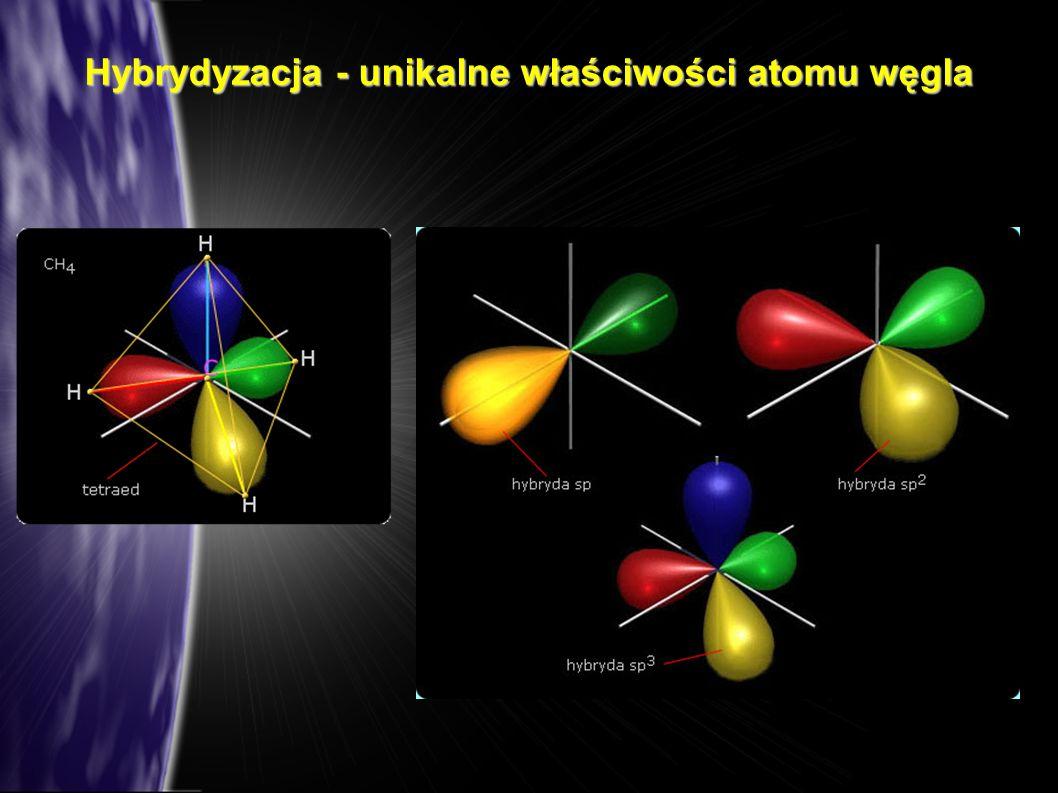 Hybrydyzacja - unikalne właściwości atomu węgla