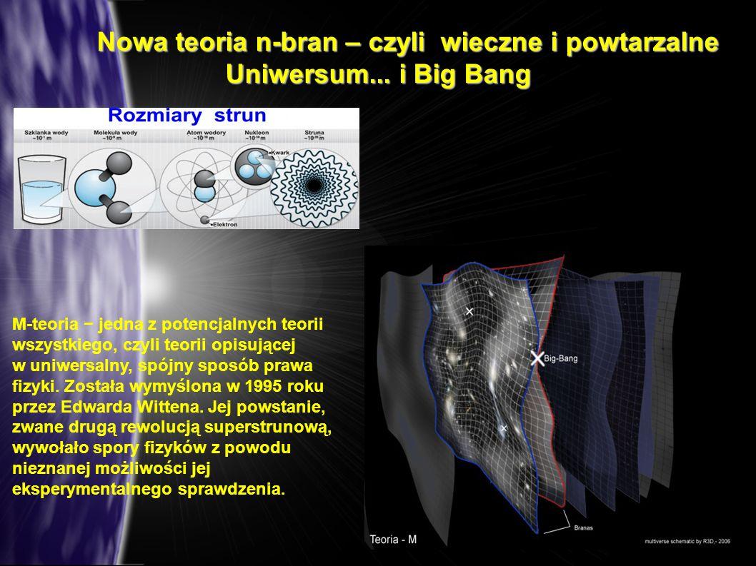 Nowa teoria n-bran – czyli wieczne i powtarzalne Uniwersum... i Big Bang
