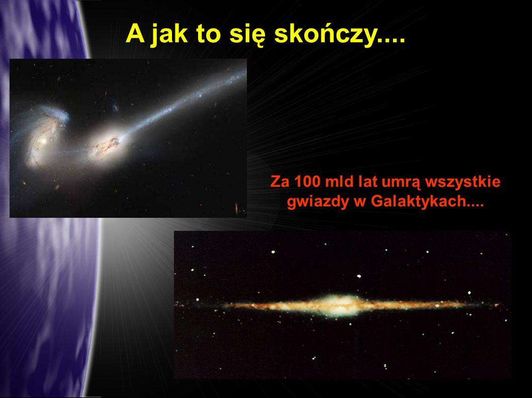 Za 100 mld lat umrą wszystkie gwiazdy w Galaktykach....