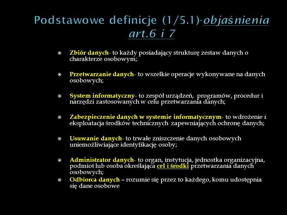 Podstawowe definicje (1/5.1)-objaśnienia art.6 i 7