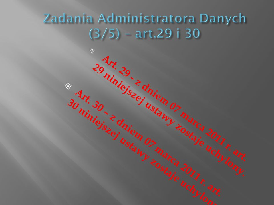 Zadania Administratora Danych (3/5) – art.29 i 30