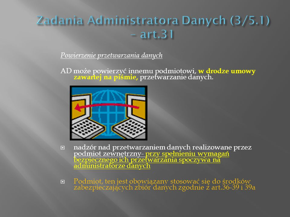 Zadania Administratora Danych (3/5.1) – art.31