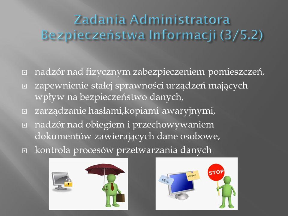 Zadania Administratora Bezpieczeństwa Informacji (3/5.2)