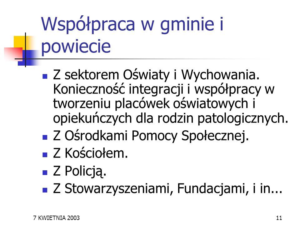 Współpraca w gminie i powiecie