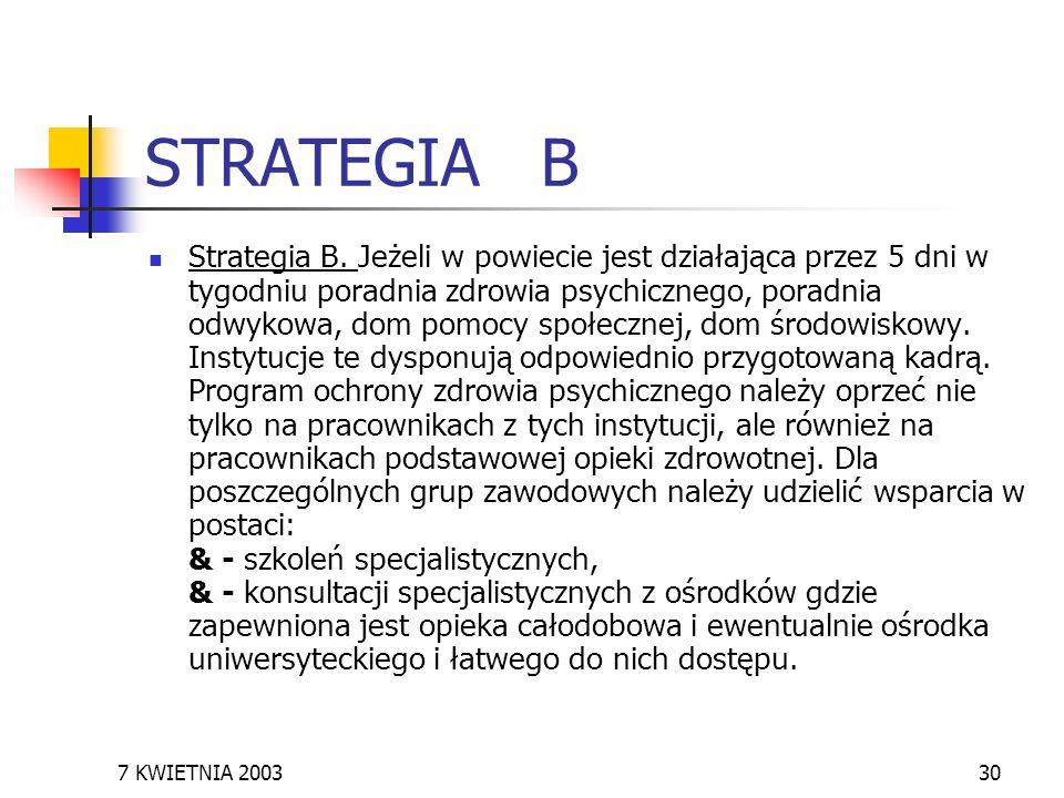 STRATEGIA B