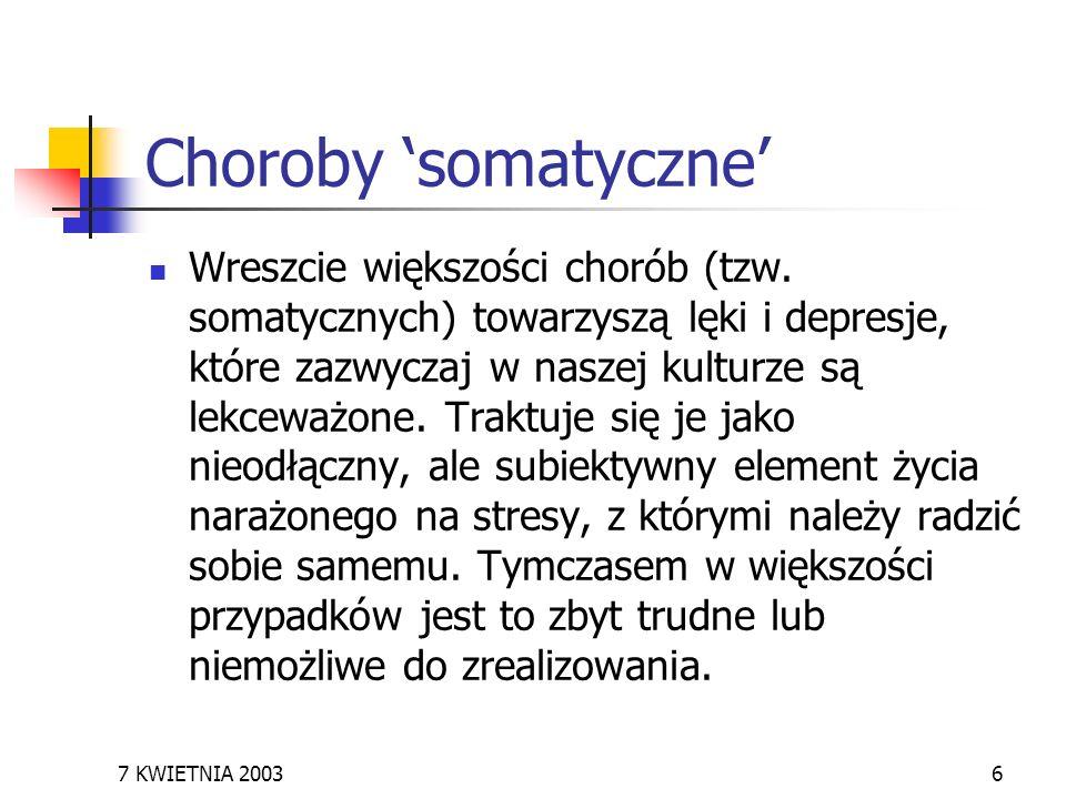 Choroby 'somatyczne'