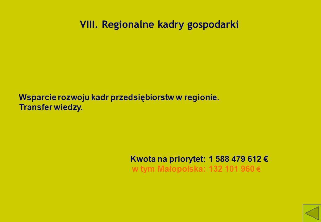 VIII. Regionalne kadry gospodarki