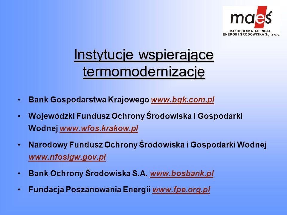 Instytucje wspierające termomodernizację