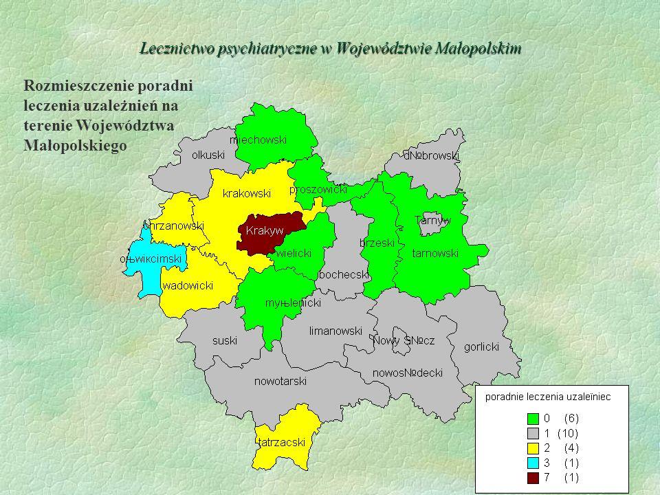 Lecznictwo psychiatryczne w Województwie Małopolskim