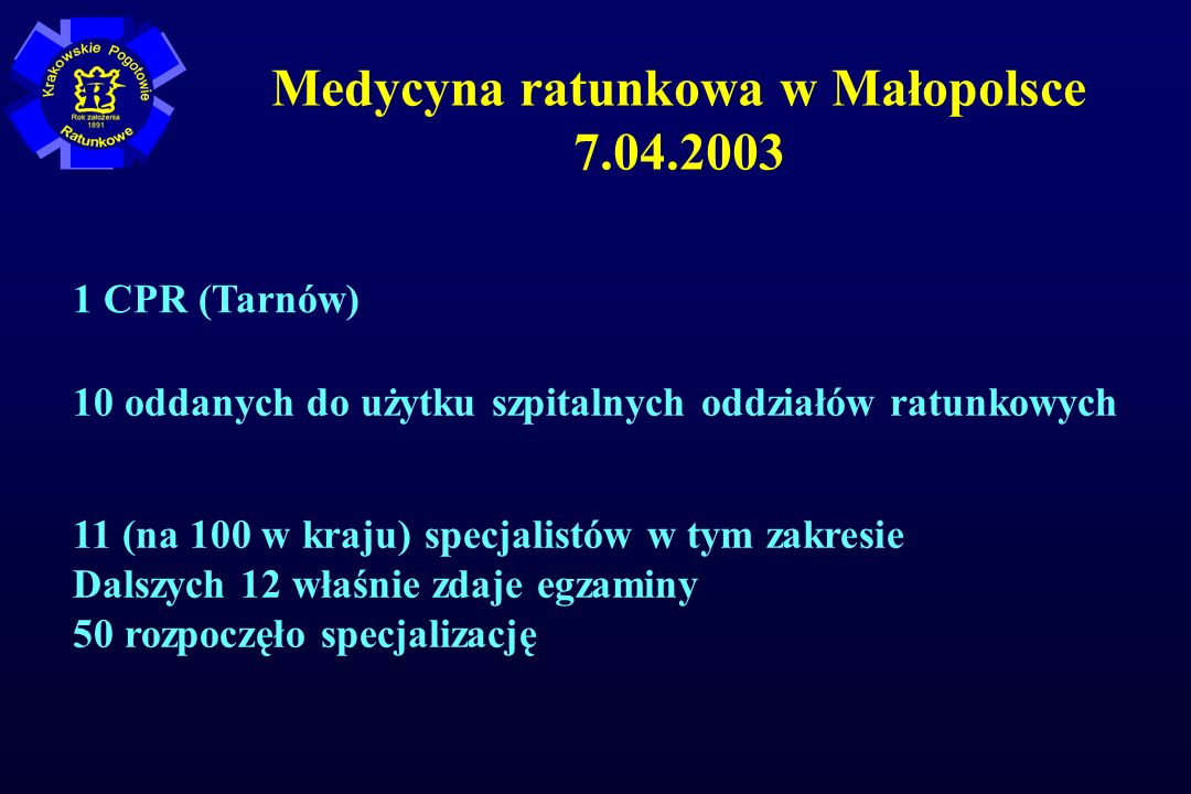 Medycyna ratunkowa w Małopolsce