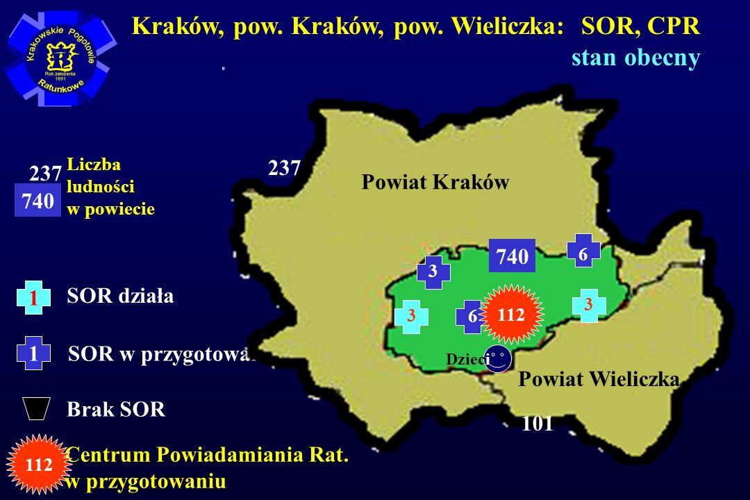Kraków, pow. Kraków, pow. Wieliczka: SOR, CPR stan obecny