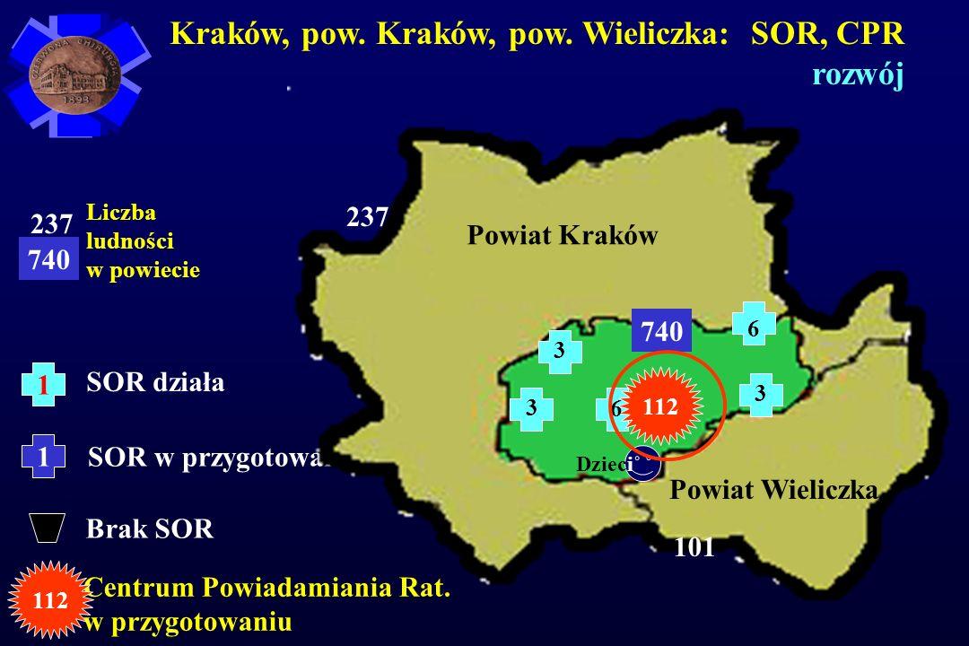 Kraków, pow. Kraków, pow. Wieliczka: SOR, CPR rozwój