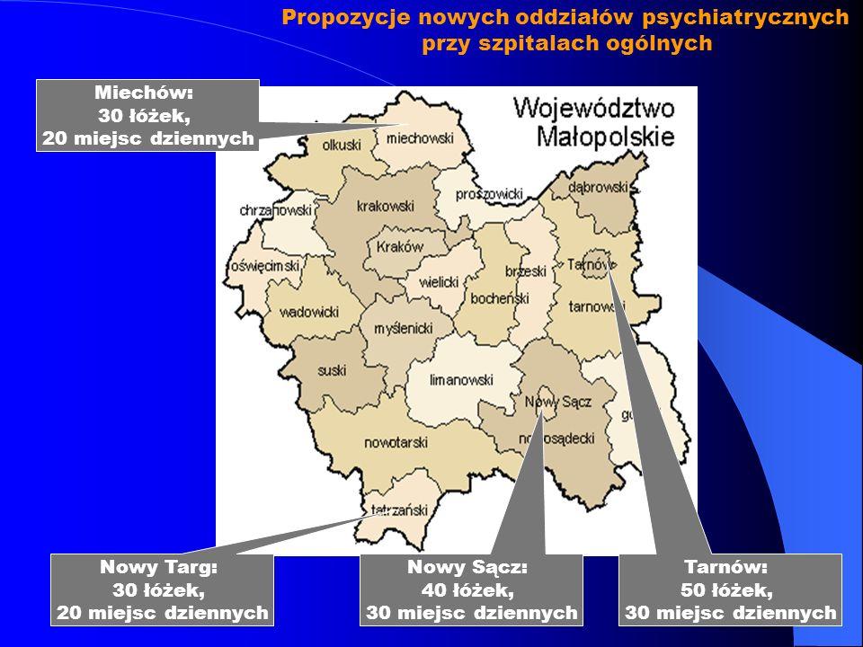 Propozycje nowych oddziałów psychiatrycznych przy szpitalach ogólnych