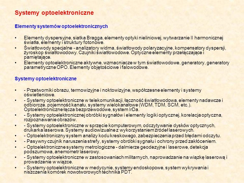 Systemy optoelektroniczne