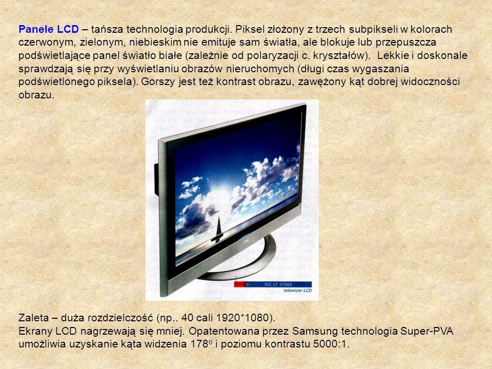 Panele LCD – tańsza technologia produkcji