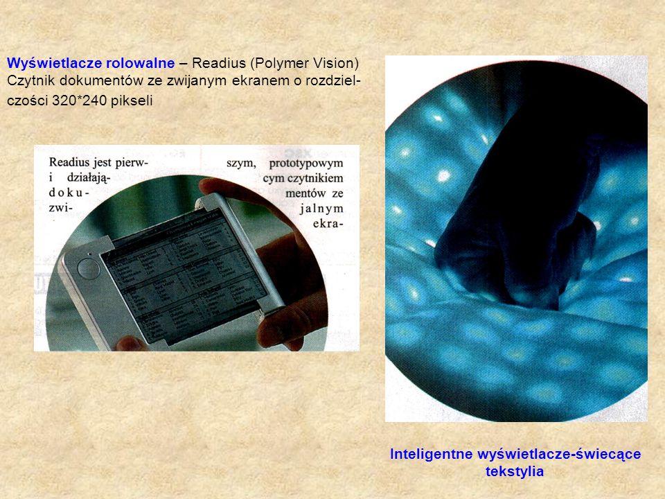 Wyświetlacze rolowalne – Readius (Polymer Vision)