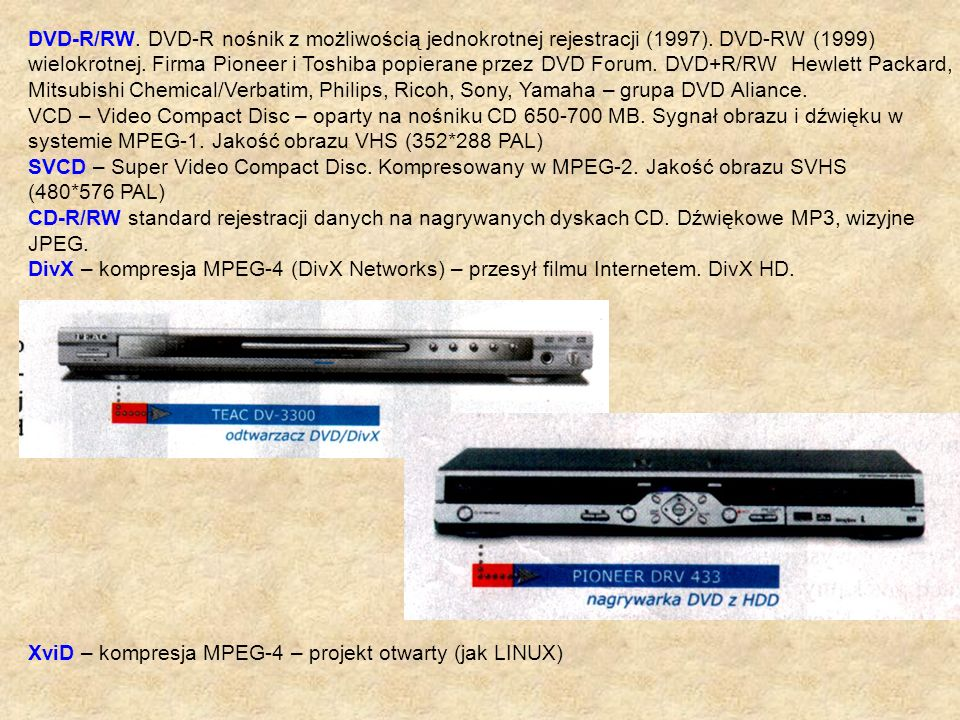 DVD-R/RW. DVD-R nośnik z możliwością jednokrotnej rejestracji (1997)