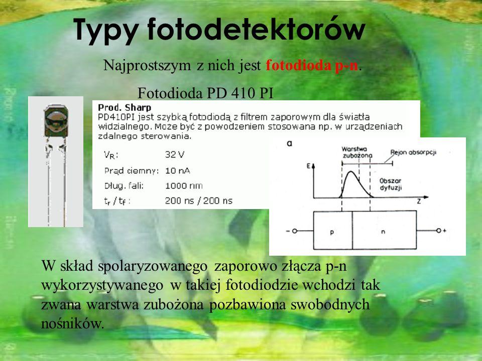 Najprostszym z nich jest fotodioda p-n.