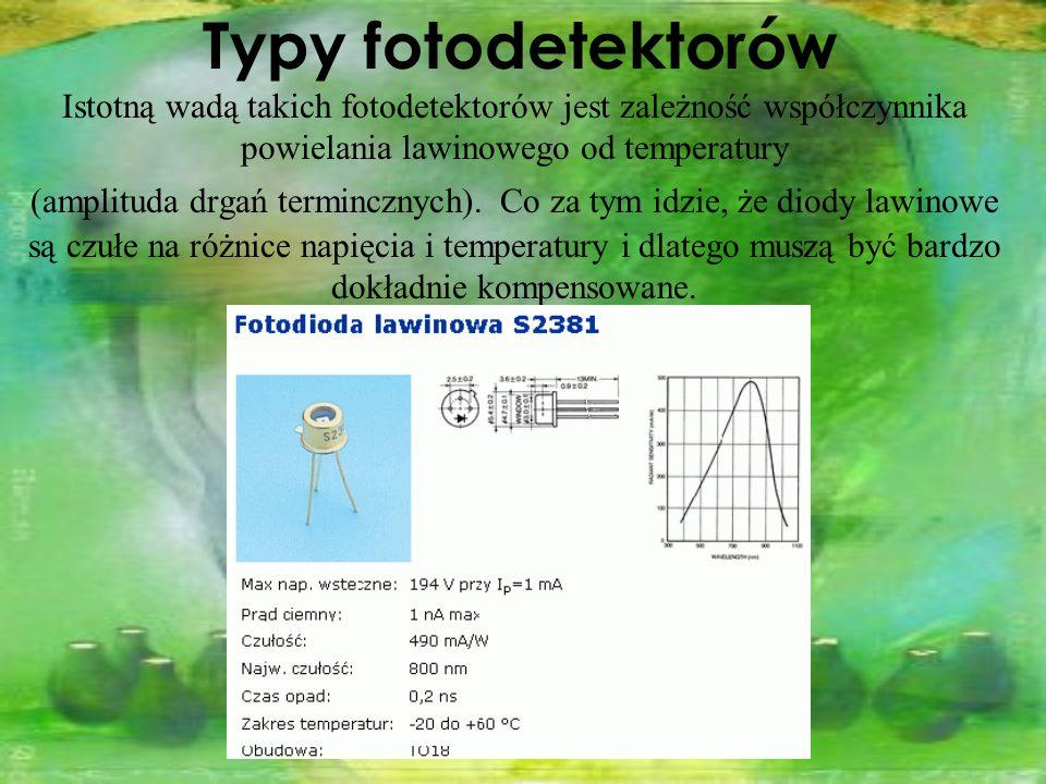 Typy fotodetektorów